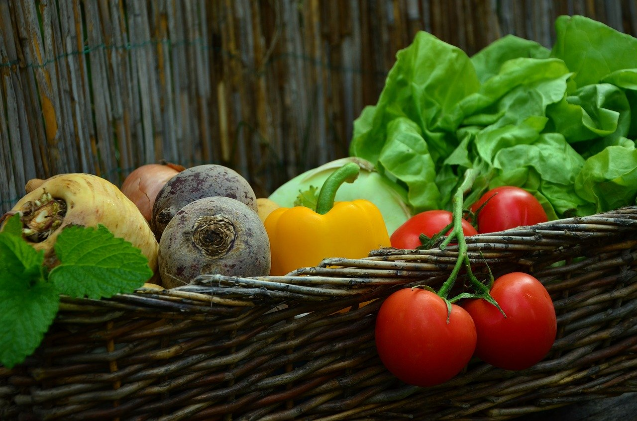 vegetables, tomatoes, vegetable basket